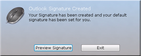 Microsoft Outlook Signature Active Directory question