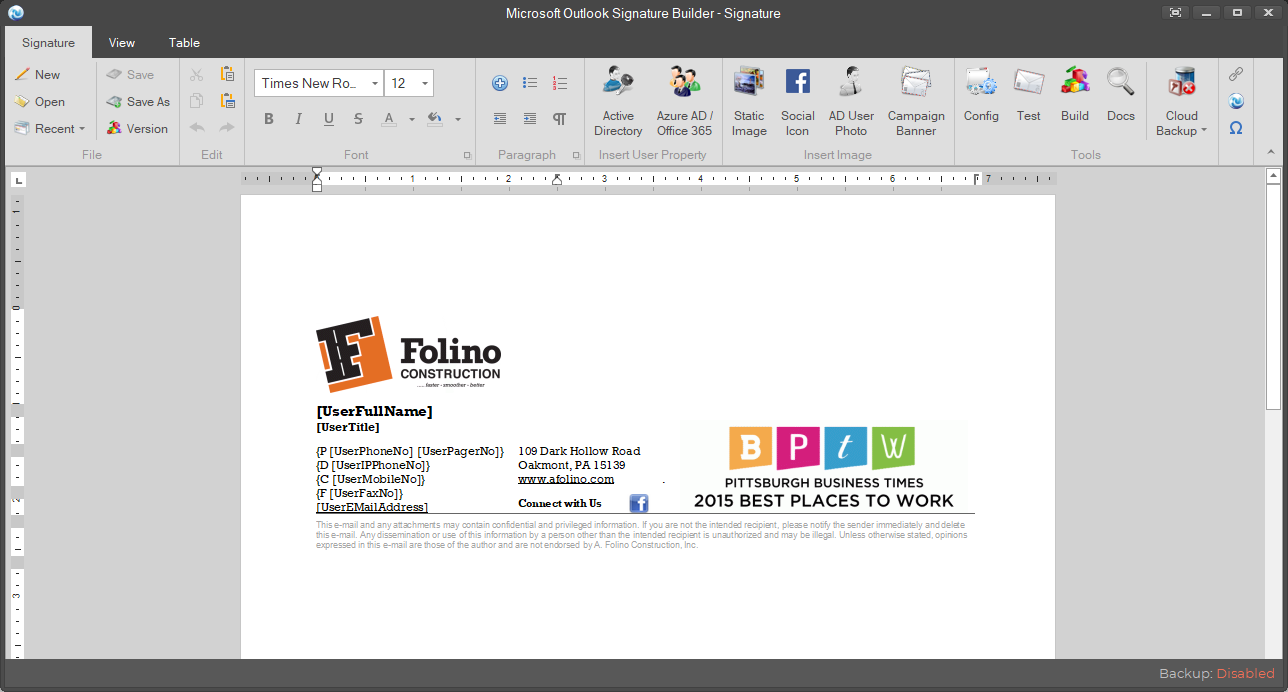 Outlook подпись как сделать