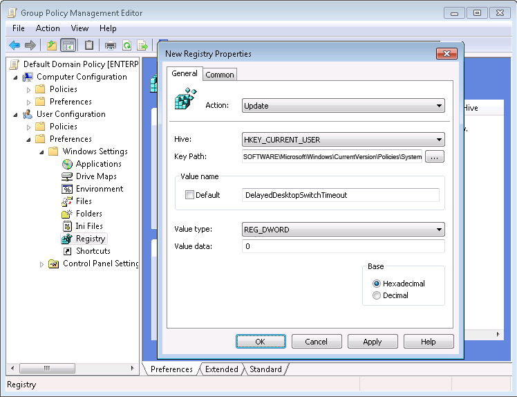 Group policy for showing a logon script