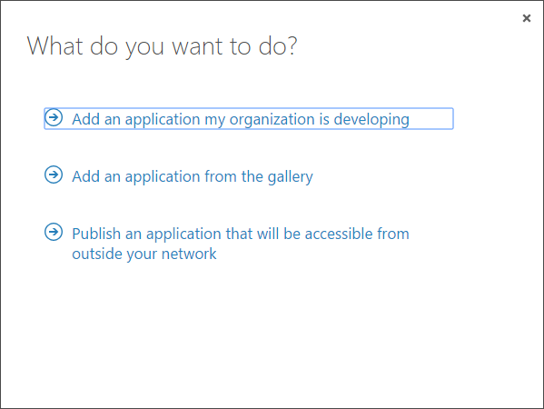 Microsoft Azure AD / Office 365 add application #2