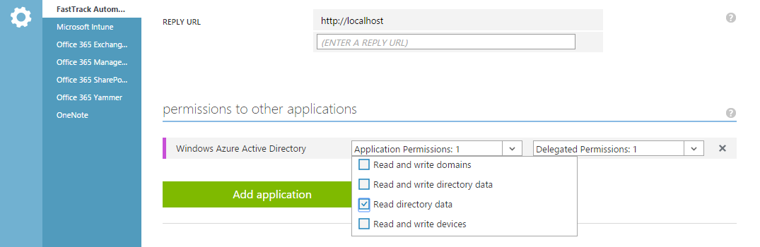 Microsoft Azure AD / Office 365 add application #7