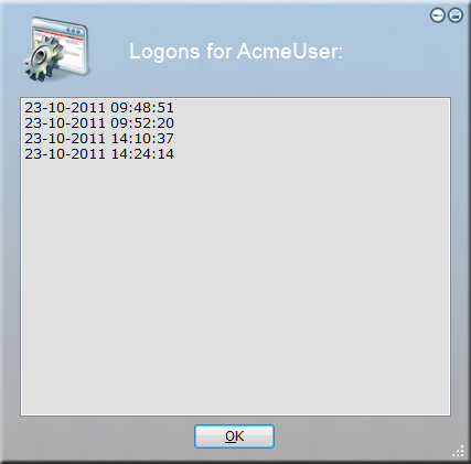 Logon table